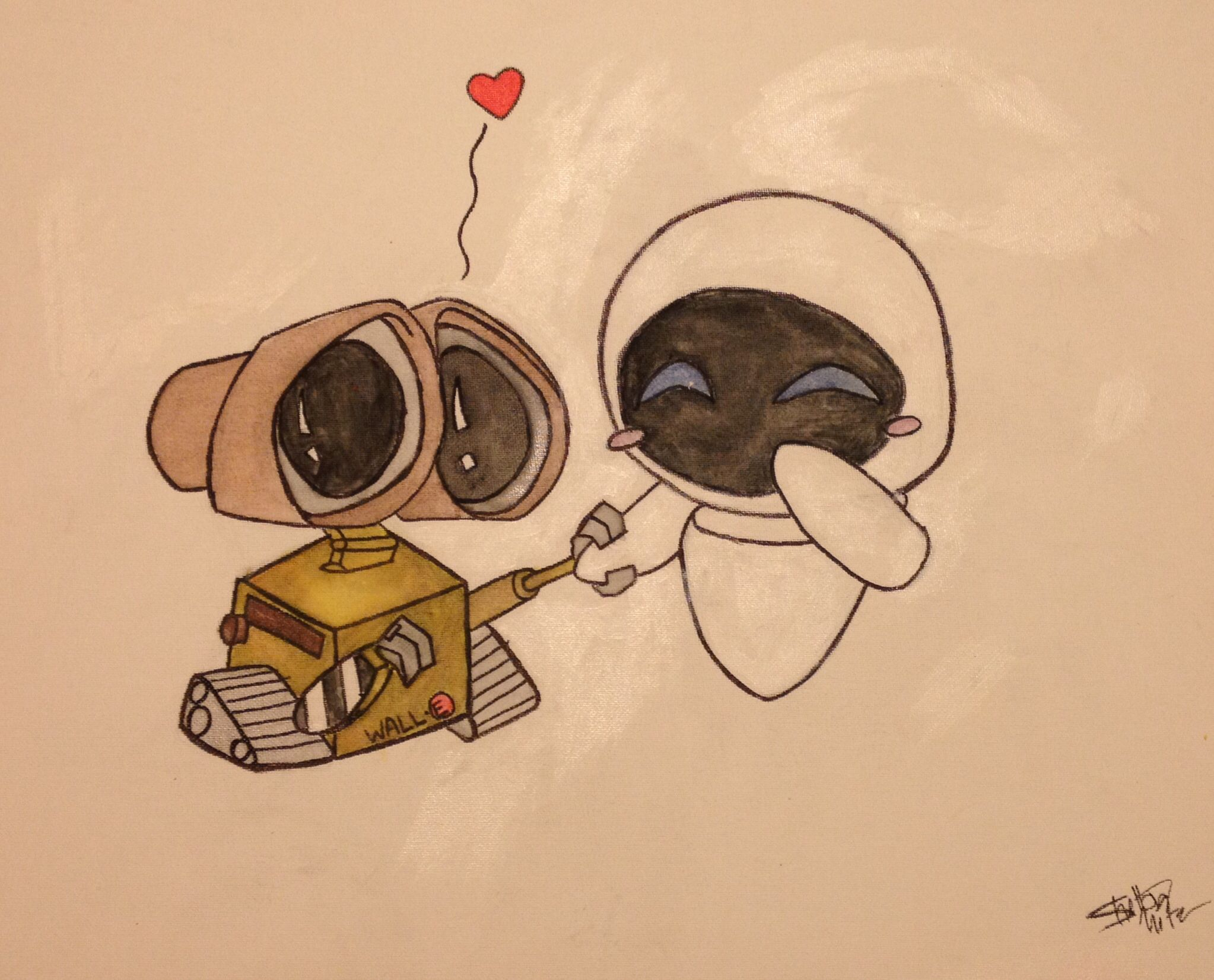 WALL•E and EVE | Painted: 7/10/14