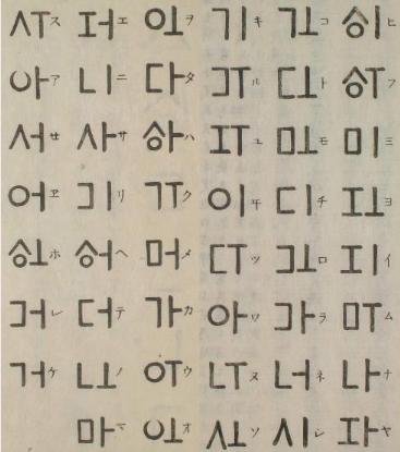 Japanese Ancient Alphabet That Modifies Garimto Alphabet Corean