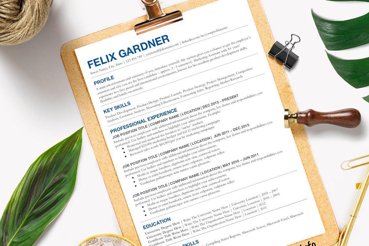 Simple Resume Template Google Doc | Simple resume template ...