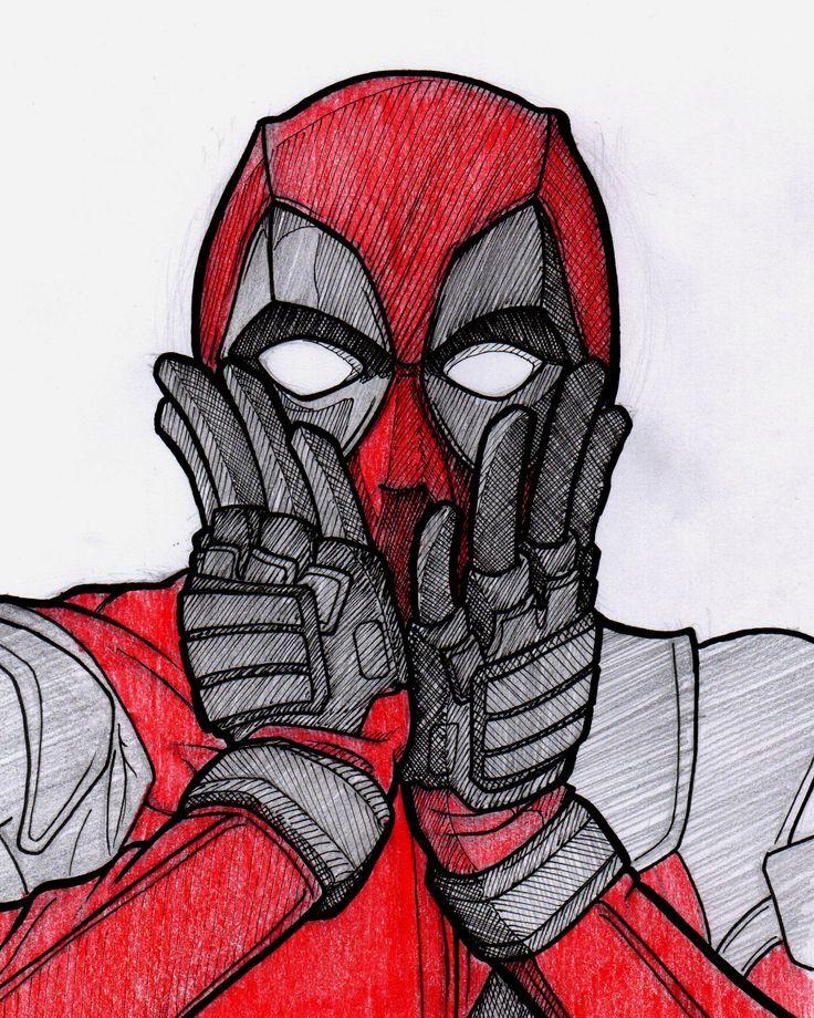 Cool Deadpool Drawings : deadpool, drawings, Deadpool, Sketch..., Artwork,, Drawing