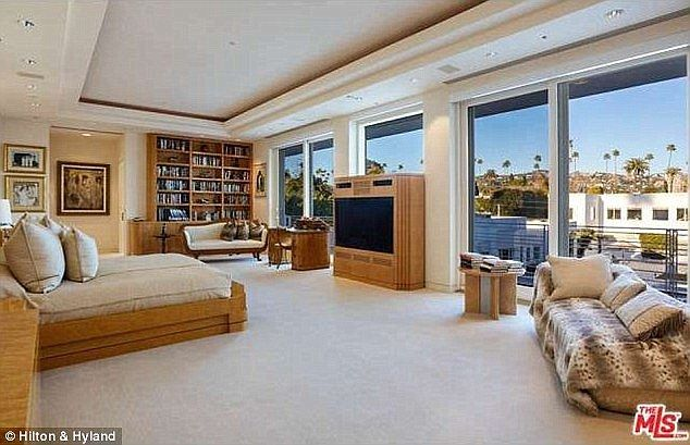 The Beverly Hills mansion where the interview took place has incredible views and stylish interiors