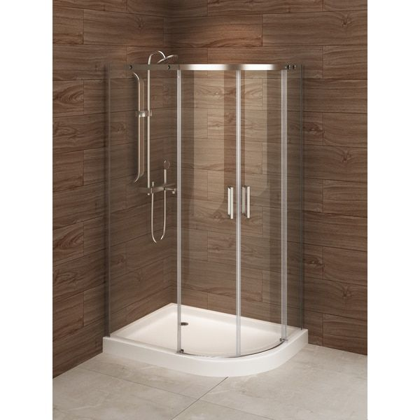 Madrid 48 Inch X 36 Inch Asymmetric Right Opening Corner Shower Stall