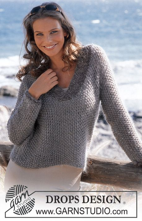 DROPS Pullover in Muskat and Vivaldi. ~ DROPS Design | Knitted ...