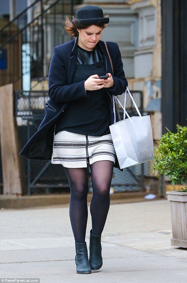 Dress like a princess in Eugenie's striped skirt from Topshop #DailyMail