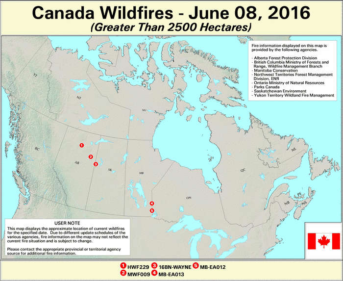 Canada Active Fire Map Active Fire Mapping Program | Parks canada, Wildland fire, Hazy