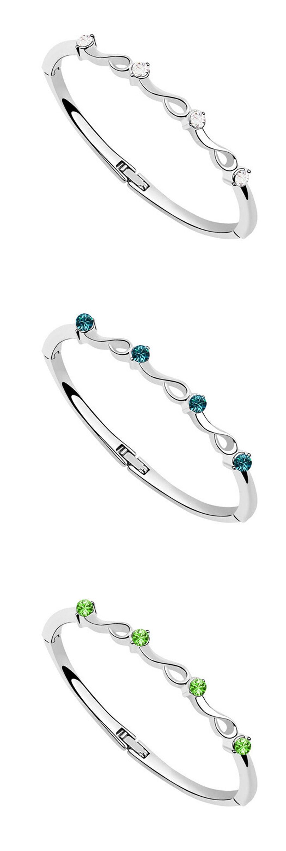 Luxury bracelets u bangles new design silver plated bracelet trendy