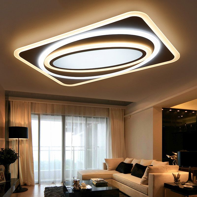 Lights & Lighting Led Ceiling Light Modern Panel Lamp Lighting Fixture Living Room Bedroom Kitchen Surface Mount Flush Remote Control Crazy Price