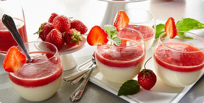 Rezept: Panna Cotta mit Erdbeeren | Aldi rezepte | Pinterest | Panna ...