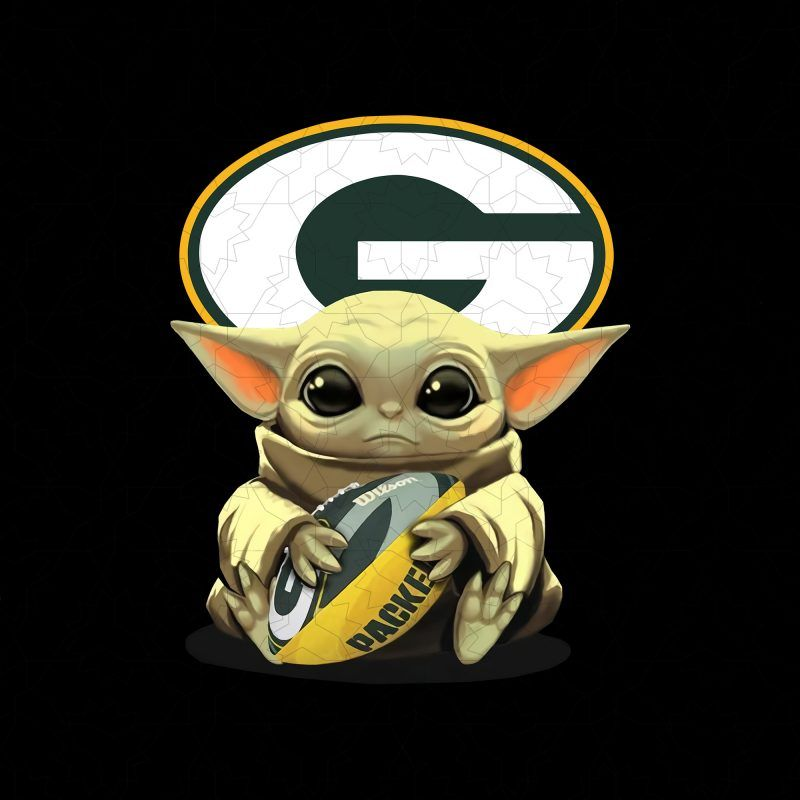 Green Bay Packers Baby Yoda T Shirt Design Png Green Bay Packers Baby Packers Baby Yoda Png