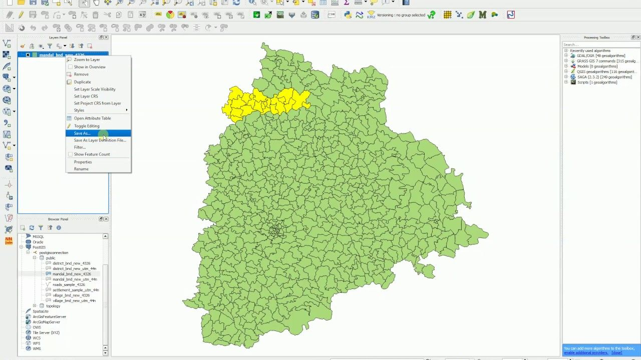 QGIS Attribute Table Advanced filter (Expression) Save only selected