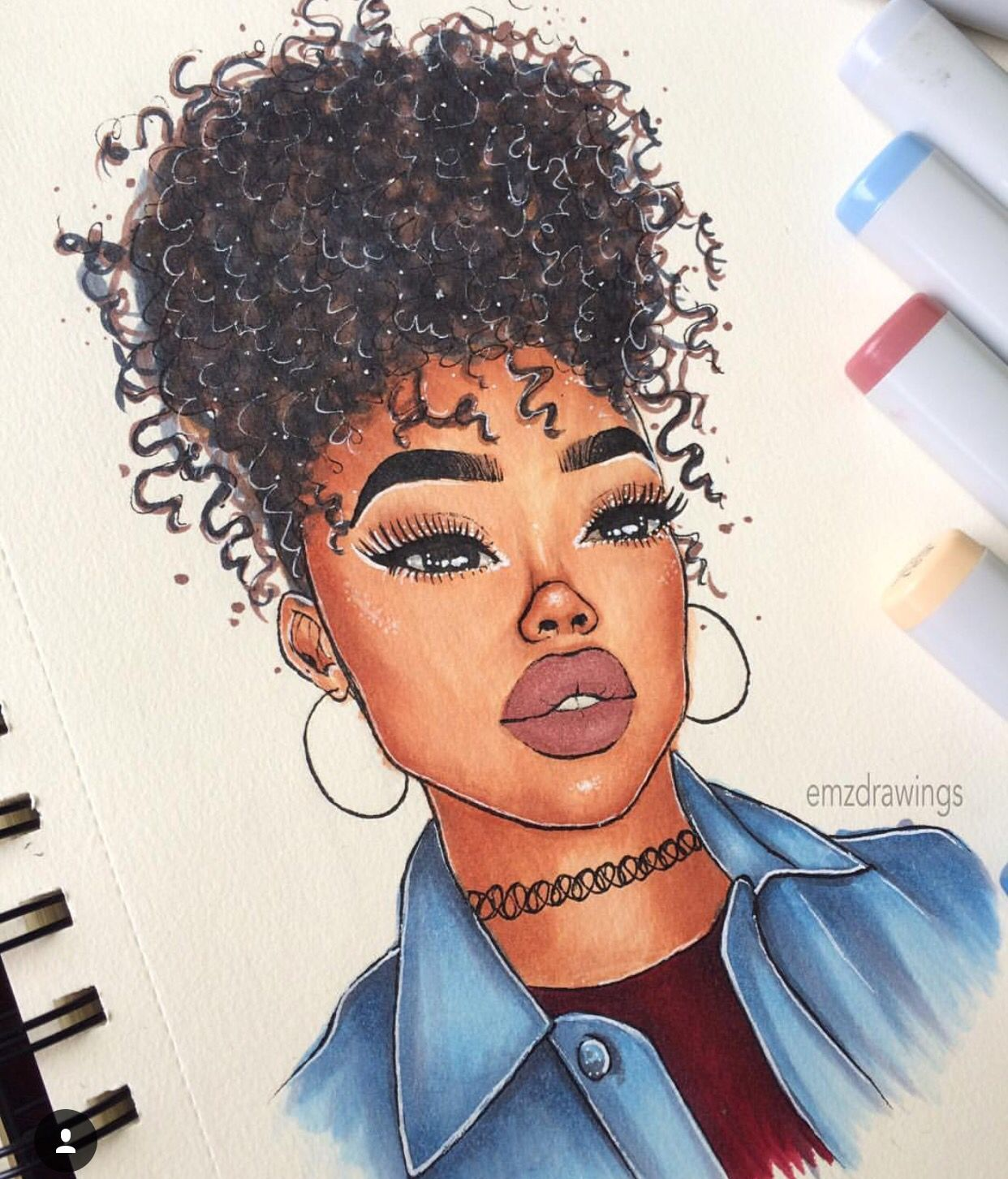 Black women art · cute art · im unaware of the title and who the artist is cartoon drawings of