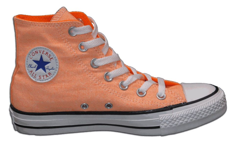 Converse Chuck Taylor All Star Hi Top Washed Neon Orange