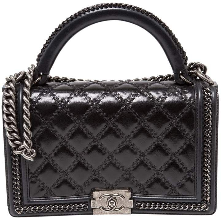 16e43ed1842f 17C Authentic CHANEL BOY BAG GREY Quilted Leather Silver Chain – Jill's  Fashion Base - Sale! Up to 75% OFF! Shop at Stylizio for women's and me…