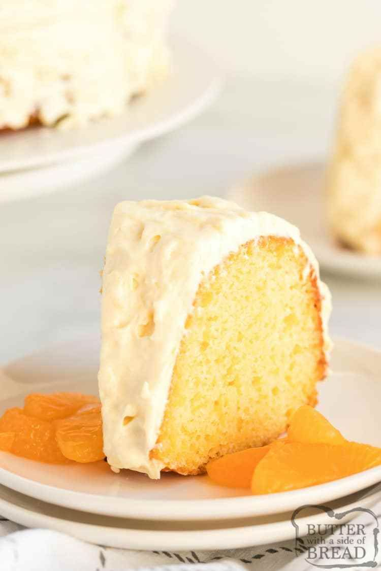 MANDARIN ORANGE CAKE WITH PINEAPPLE FROSTING - Butter with a Side of Bread