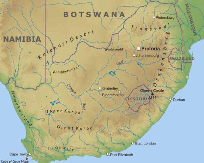 Cartina South Africa.Risultati Immagini Per Cartina Sudafrica Fisica Sudafrica