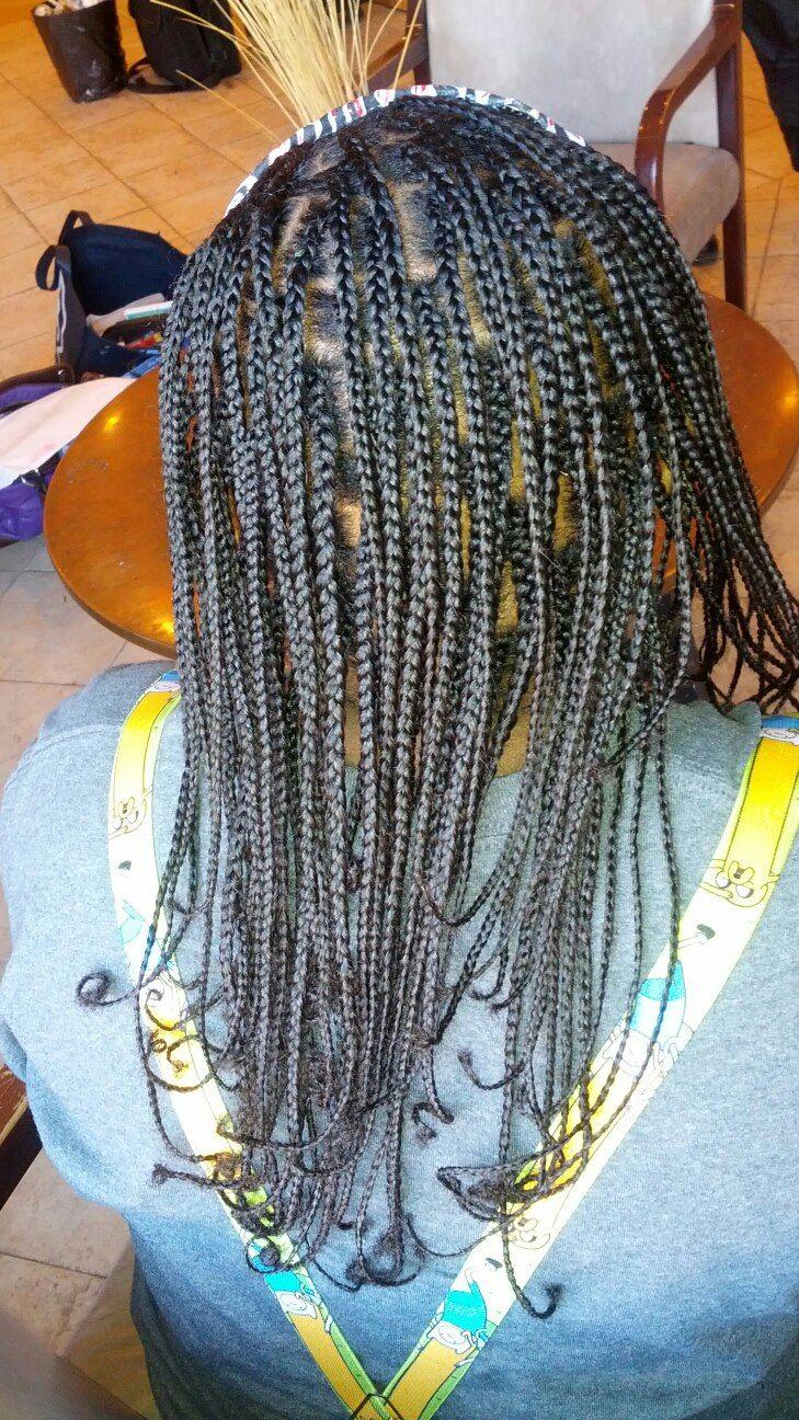 small plait braids weave