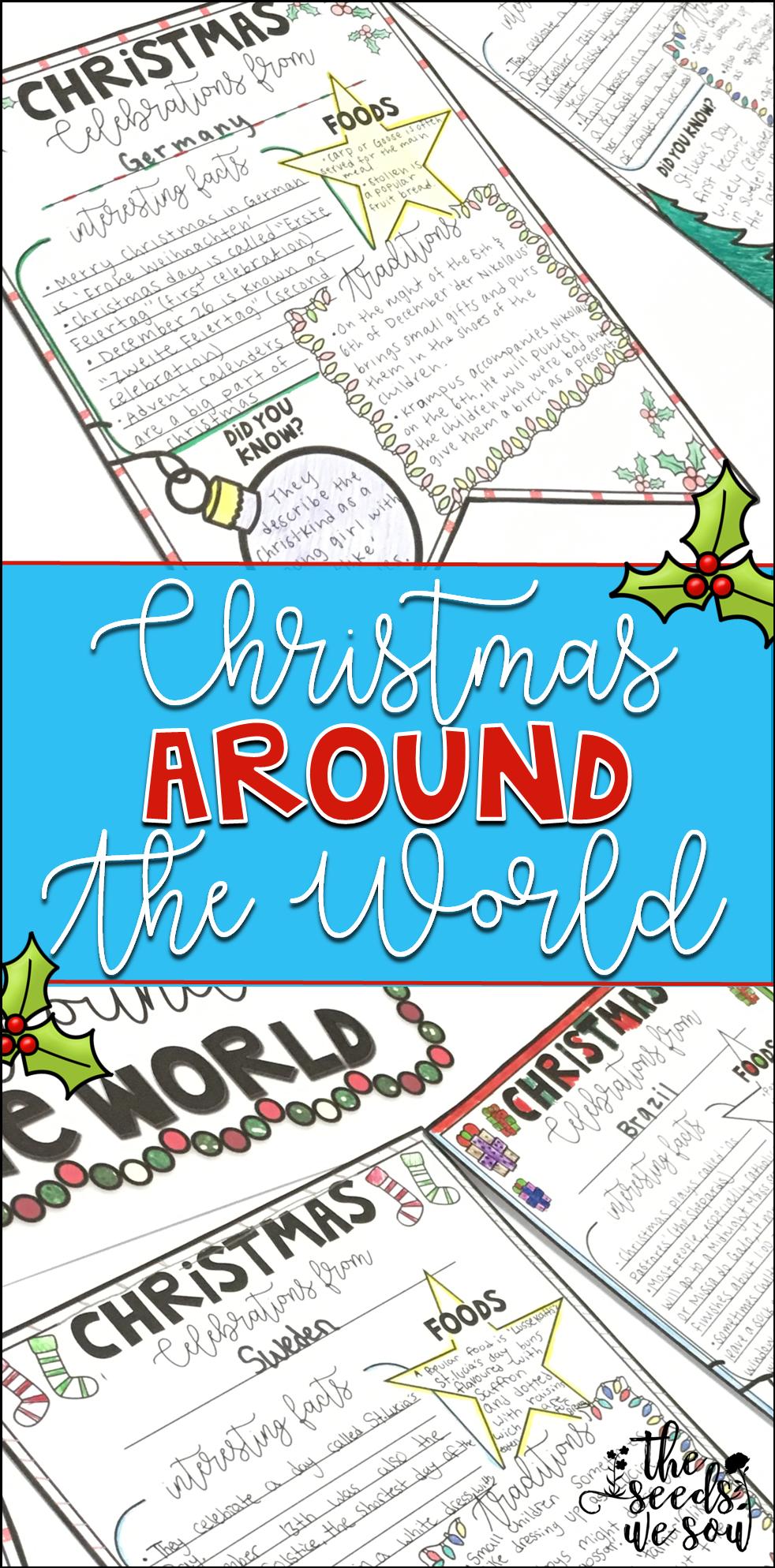 Christmas Around the World Activities | Classroom displays ...