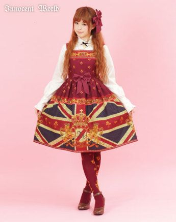 Innocent World - Union Jack High Waist Jumperskirt