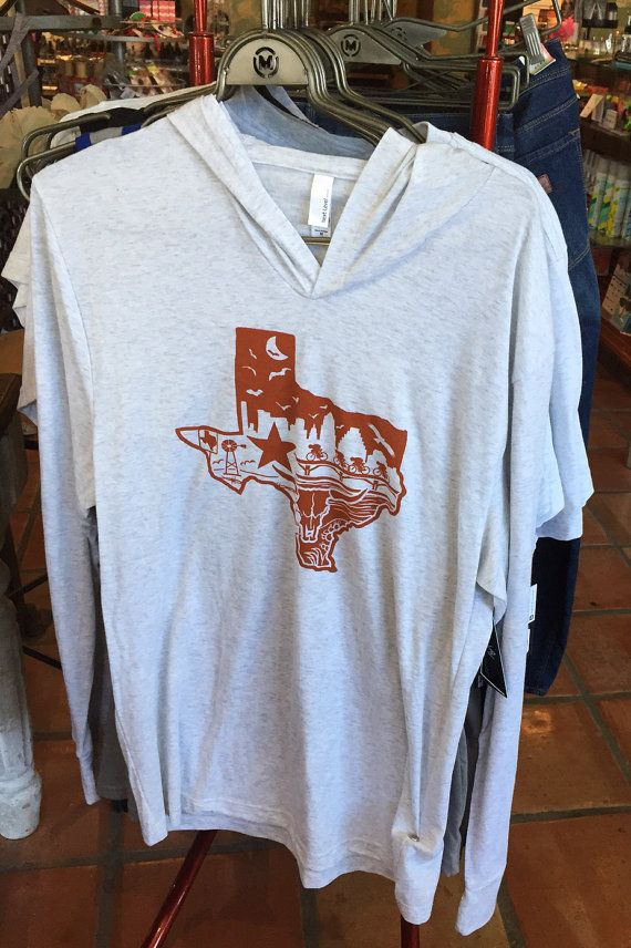 Texas Pride Hoodie Lightweight Super Soft by wanderapparelco. $34.99  Perfect holiday or Christmas gift! #wanderapparel #longhorns #texaspride #ut #texas #austin #dallas