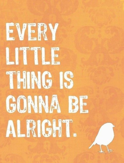 every little thing is gonna be alright @Holly Yearous