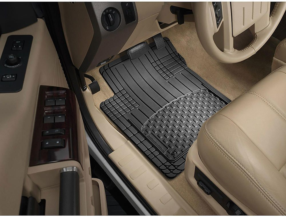 Weathertech All Vehicle Front Rear Universal Mats Black Set Of 4 Weather Tech Car Cleaning Hacks Car Cleaning