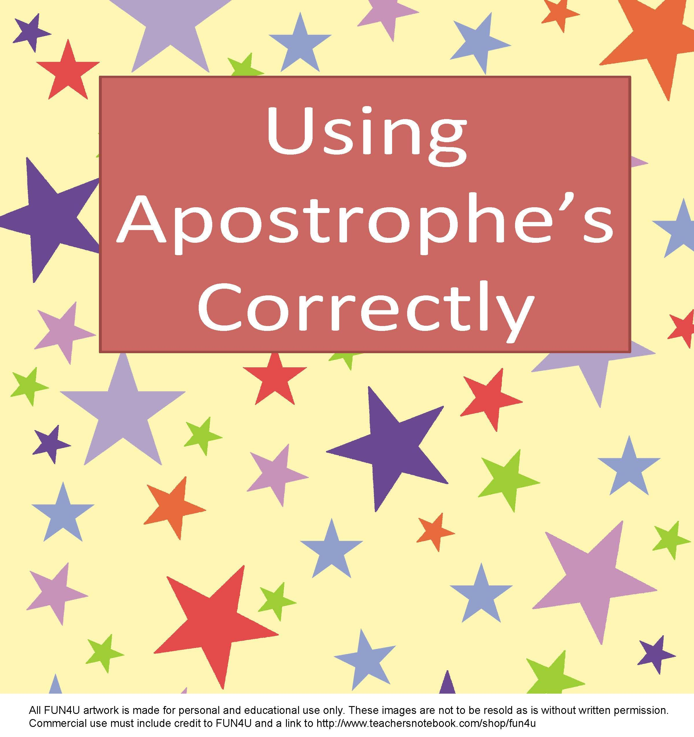 Using Apostrophes Correctly Is A Free Lesson
