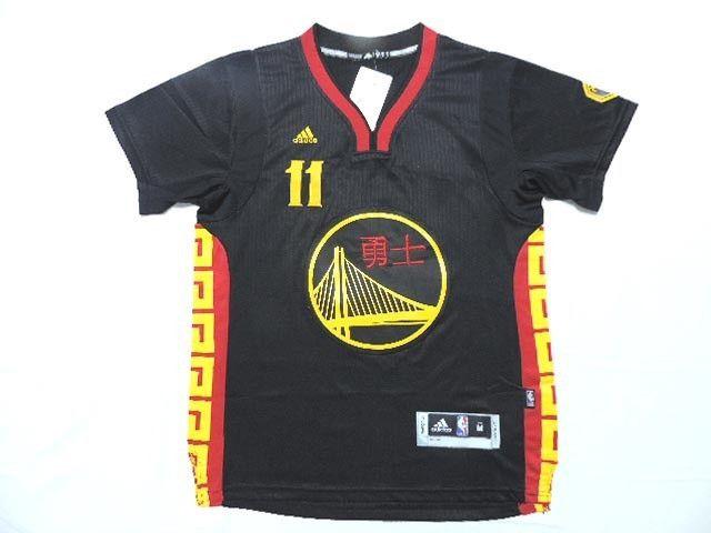 ... thompson 11 golden state warriors adidas chinese new year game jersey  golden state warriors jerseys 11abc6746