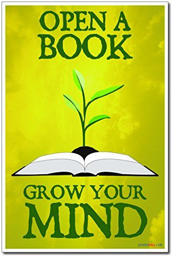 Open A Book Grow Your Mind New Classroom Motivational Reading
