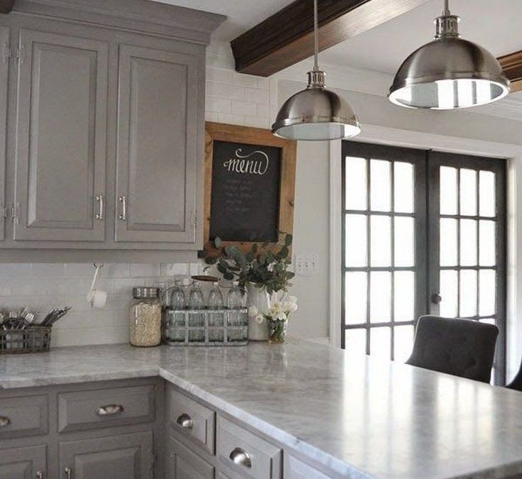 Kitchen Cabinet Makeover Ideas Paint: Gorgeous 123 Grey Kitchen Cabinet Makeover Ideas Homadein