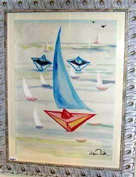 Visage De La Mer Aquarelle Boyama 50x70 Cm Ivan Hor Tarafindan