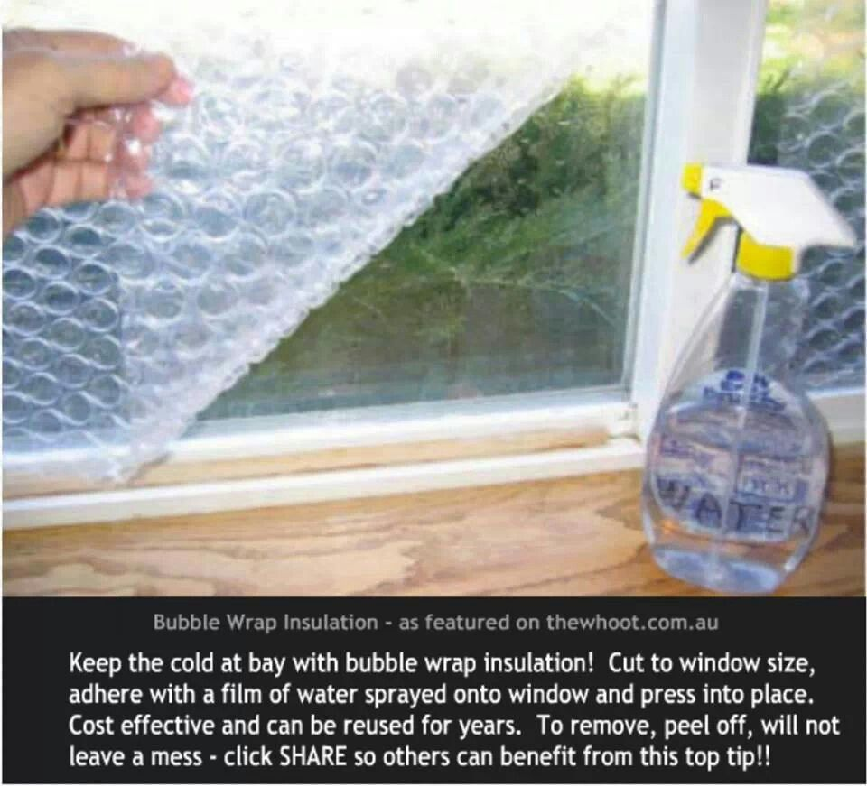 How To Insulate Windows Diy Use Bubblewrap To Insulate Windows Great Ideas