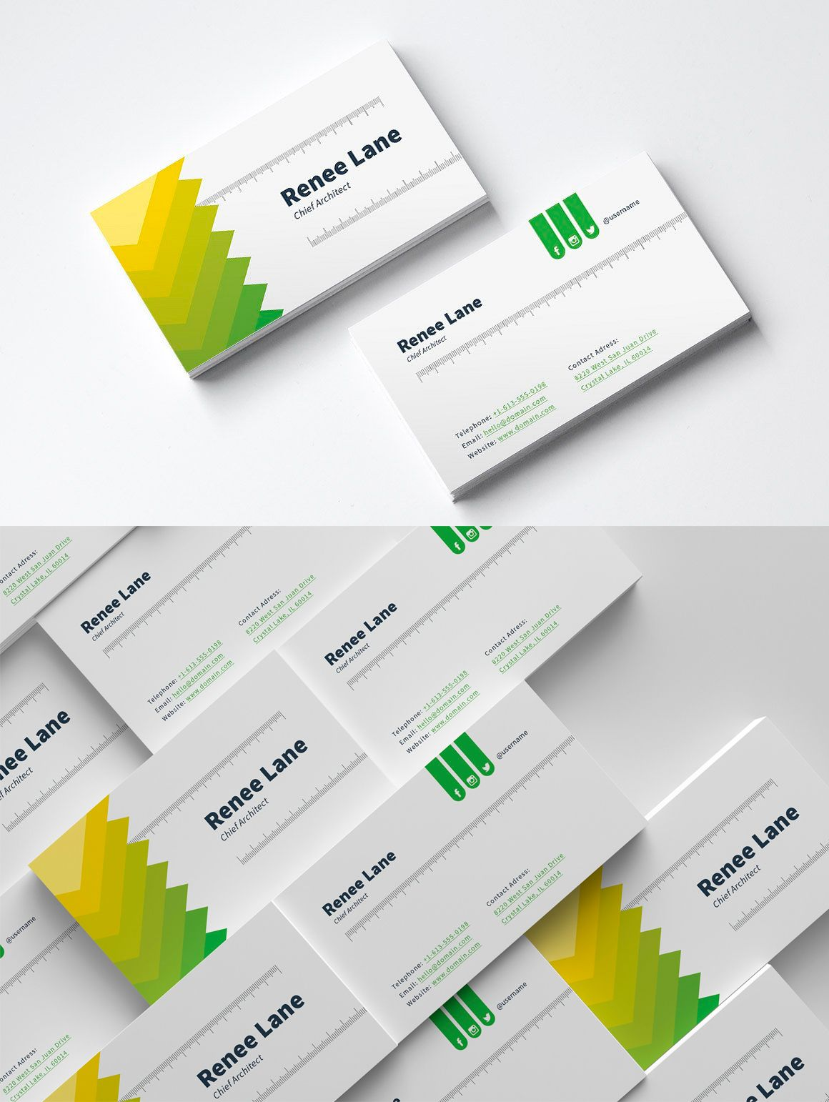 Architect Business Card Template PSD