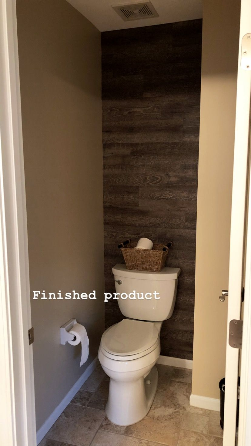 Faux Wood Accent Wall Peel And Stick Wood From Lowe S Wood Wall Bathroom Wood Accent Wall Peel And Stick Wood