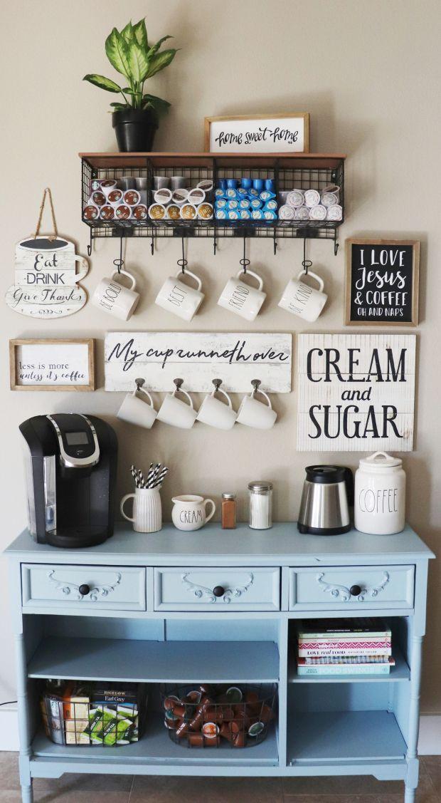 White Coffee Bar Shelf