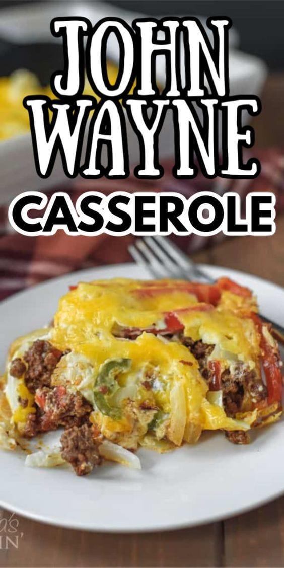 John Wayne Casserole - delicious ground beef dinne