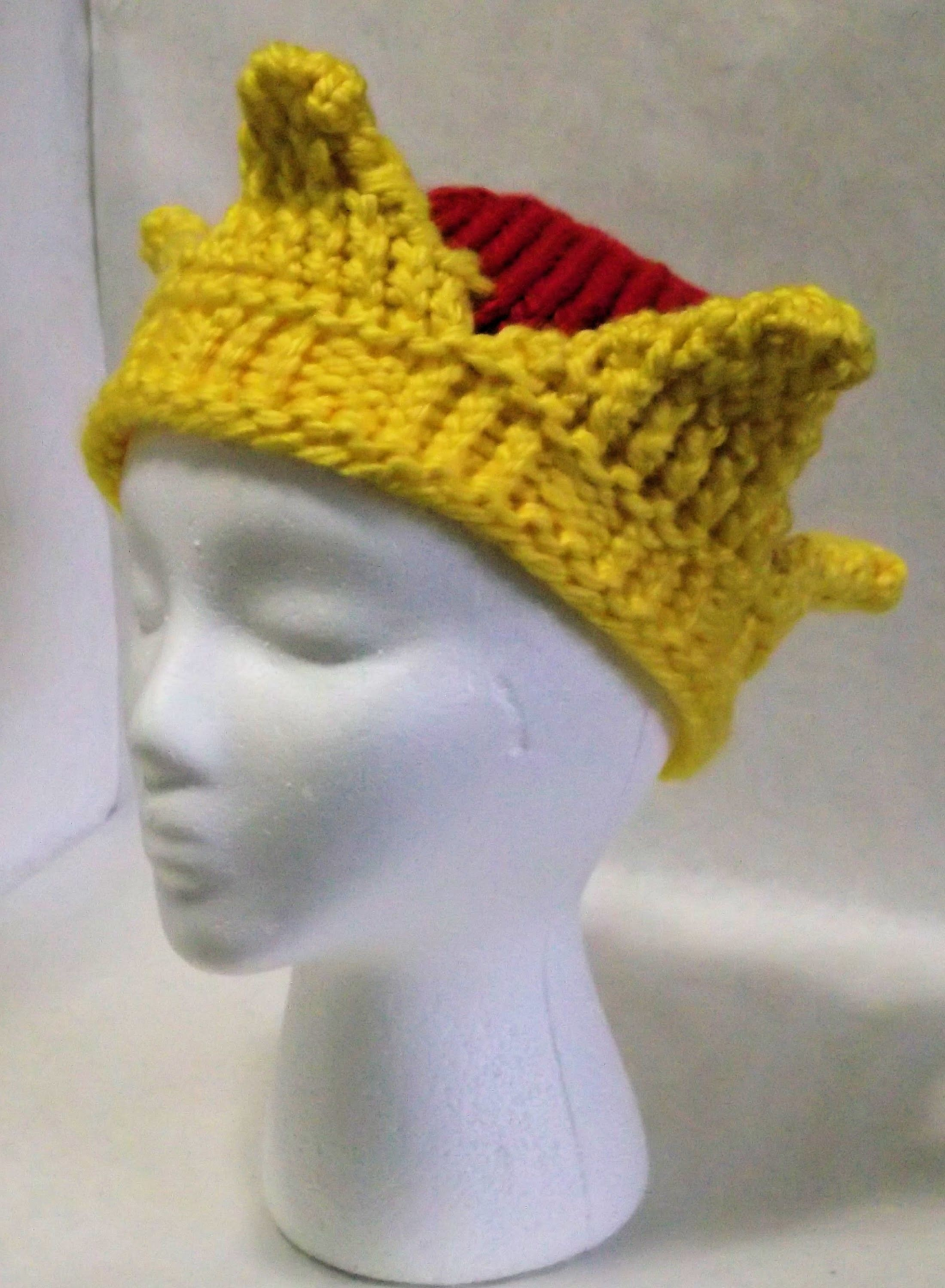 How to Loom Knit a Crown Hat