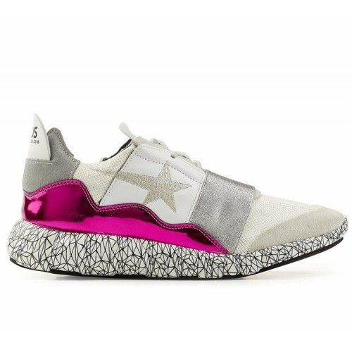 Nuovo Scarpe Golden Goose Running Donna Sneakers GGDB Bianco Argento Rosa  Saldi de4ab87a635