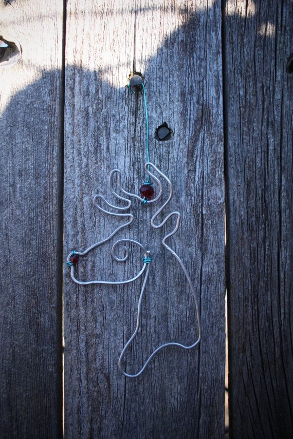 Well crafted \'Reindeer\' or \'Joy\' wire ornaments are handmade to ord ...