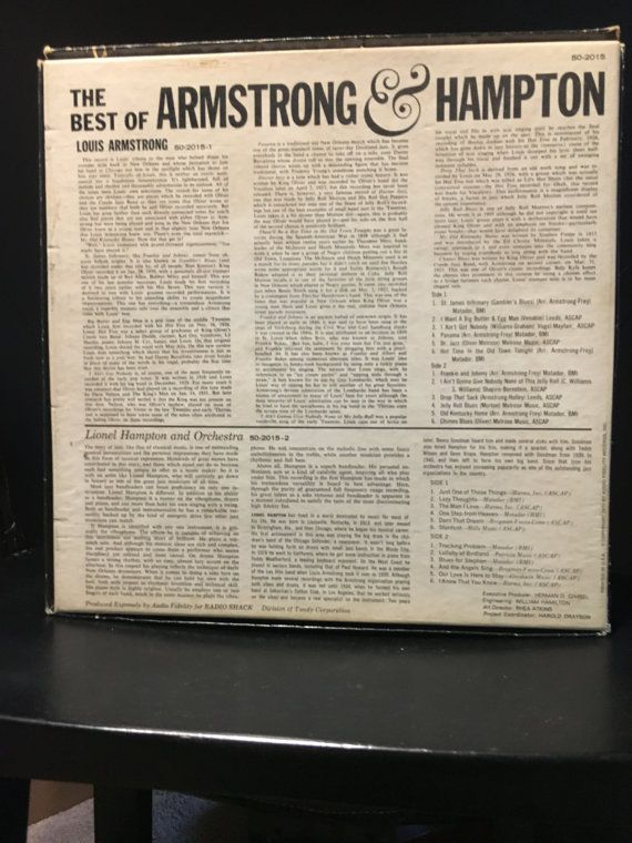 On Sale Vintage 1970 Best Of Armstrong And Hampton Vinyl Record