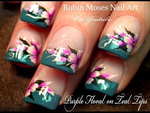 Easy Cherry Blossom Nails Spring Flower Nail Art Design Tutorial