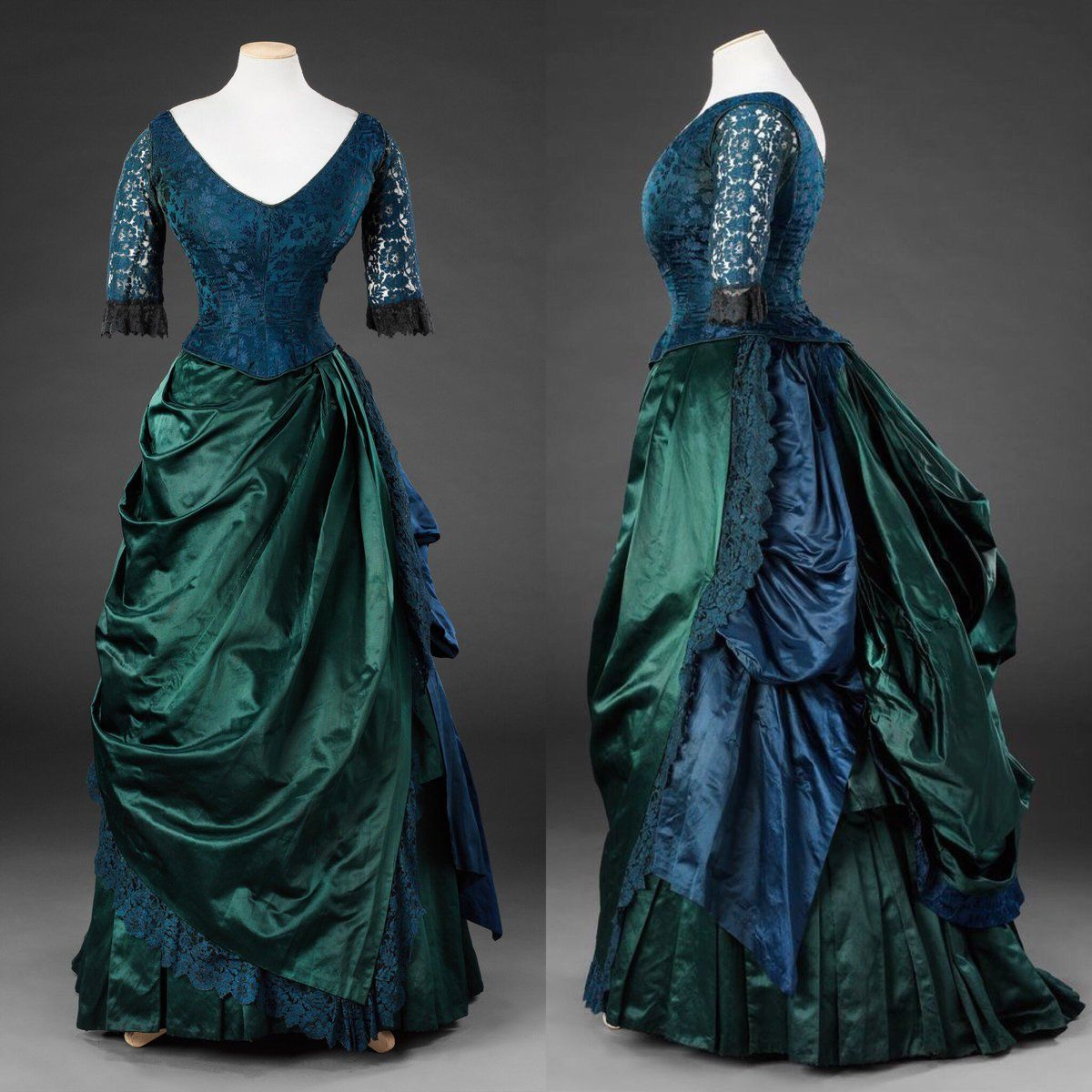 Mid 1880s Late Victorian Fashion Historical Dresses Vintage Gowns Victorian Clothing [ 1200 x 1200 Pixel ]