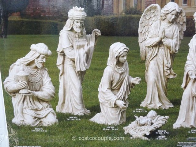 Magnificent Costco Nativity Set Outdoor Piece Outdoor Nativity Set Download Free Architecture Designs Jebrpmadebymaigaardcom