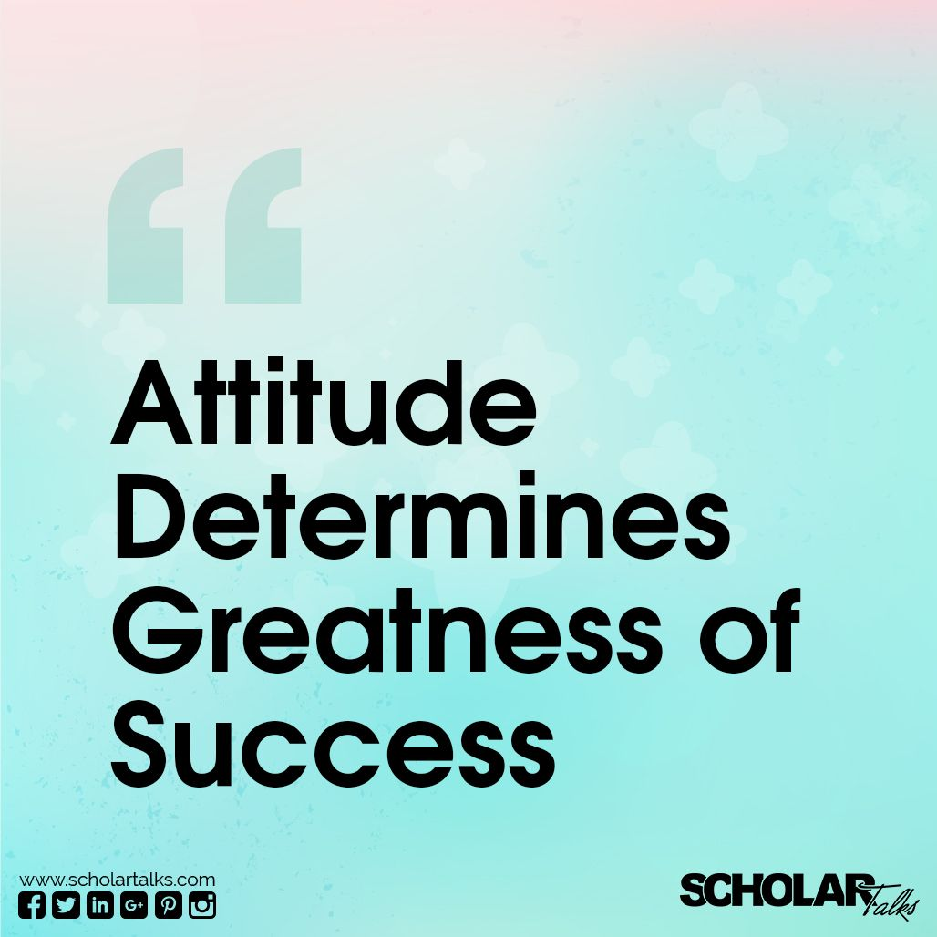 Attitude Determine Greatness Of Success Motivation Quotes By