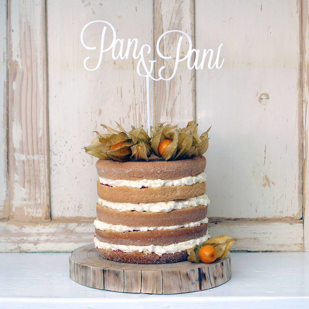 PAN A PANI zápich na tortu