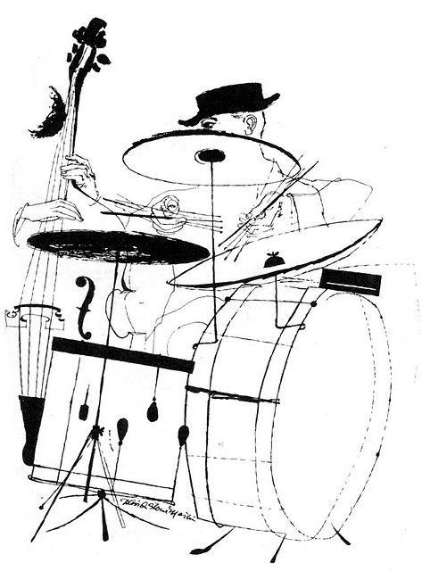 David Stone Martin Jazz Drummer