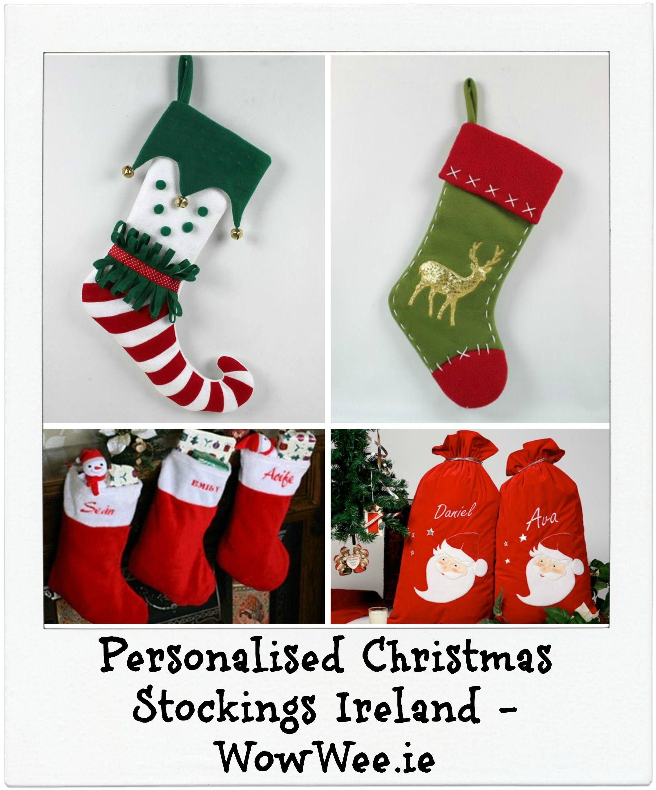 Personalised Christmas Stockings Ireland http://www.wowwee.ie ...