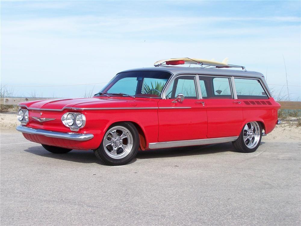 1962 Chevrolet Corvair Custom Station Wagon Side Profile 75120 Station Wagon Cars Chevrolet Corvair Station Wagon