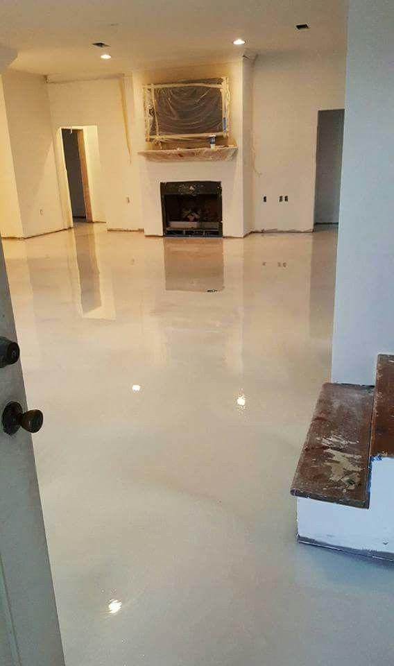 Pearl White Epoxy Metallic Floor von RAS Epoxy-Beschichtung Baton Rouge La 225955476 ...   - Epoxy -