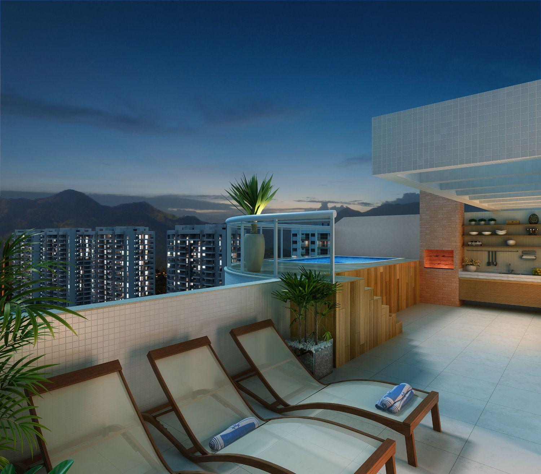 Cobertura do apartamento de 3 quartos - Condomínio Viure - Ilha Pura - www.ilhapura.com.br