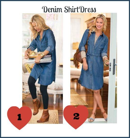 How to wear a #tall denim shirtdress.   Denim shirt dress, Shirt ...